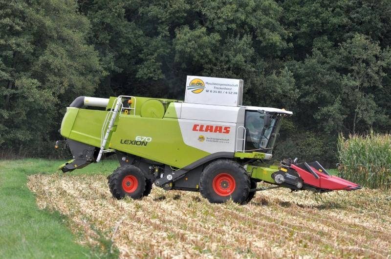 Claas Lexion 670 mit Geringhoff Maispflücker