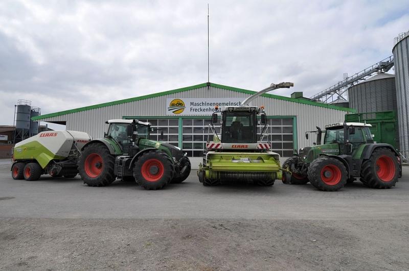 Fendt 936 Vario, Claas Jaguar 870 und Fendt 820 Vario